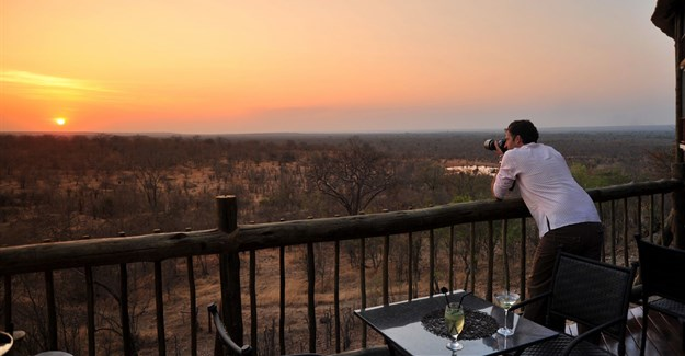 Victoria Falls Safari Club deck