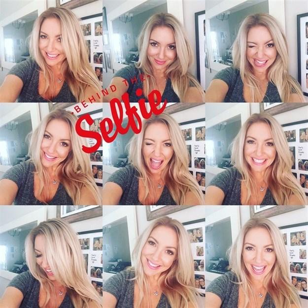 Proof that Schneider is the selfie queen!