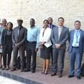 From left to right: Bentry Chaura, acting director, SADC, Tawanda Gotosa, technical advisor, SADC, Deborah Kahatano, senior programme officer, SADC, Lily Rakorong, chairperson, RETOSA, Sem Shikongo, former Chairman, RETOSA, Moses Chakanga, technical advisor, RETOSA, Tebogo Oletile, public relations and marketing manager, HATAB, Kenneth Racombo, Acting Ceo of RETOSA, Andoniaina Andriamiandrisoa, Programme Officer, SADC and Simba Mandinyenya, Executive, RETOSA.