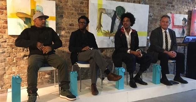 From left to right: Ready D, Neo Muyanga, John Gilmore, and Jason Storey,