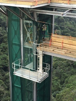 Viewing elevator down Graskop Gorge a first for Africa