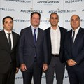 Reda Faceh (Vice President, Development Northern and Western Africa, AccorHotels), Olivier Granet (Managing Director and Chief Operating Officer, AccorHotels Middle East and Africa), Ali Salhab (Shareholder, Noral), Hassan Salhab (Shareholder, Noral)