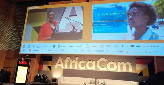 Lillian Barnard from Microsoft SA giving us some insight on digital transformation at AfricaCom.