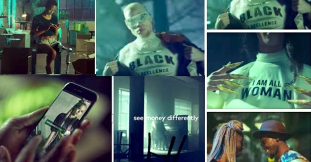 Screen grabs from the ad.