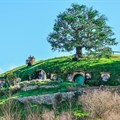 Hobbit House in Lord of the Rings location Hobbiton, Matamata, New Zealand. © Kovgabor79 –