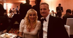 Bianca Joynt and Miles Murphy from Liquorice at the National Business Awards.