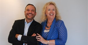 Scopen's global CEO Cesar Vacchiano and Johanna McDowell of IAS.