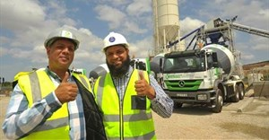 (L-R) Jerome Perils, Kenako Concrete MD alongside Sadick Davids, CDC business development manager - Metal and Manufacturing.