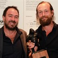 Gregor Jenkin, winner of the Icon Award and winemaker, Rudiger Gretschel. Image credit: Kerry Red.