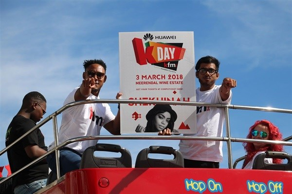 Huawei and Kfm 94.5 tour the Mother City to celebrate the return of the Cape's ultimate music festival