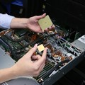 IBM Engineer, Stefanie Chiras tests the IBM Power System server in Austin, Texas