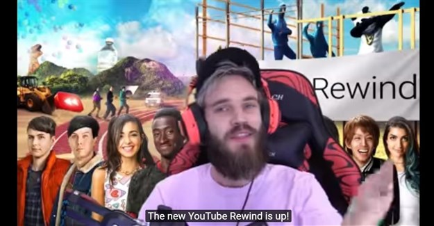 PewDiePie 'not salty' at YouTube for not including him in 2017 Rewind
