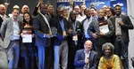 Winners of the Digital Media Awards in Johannesburg, South Africa.