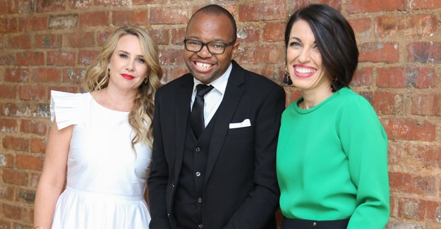 Mela Events owners,Enelra Booth (L) and Tiziana Tucci (R) with M&N Brands Group CEO, Zibusiso Mkhwanazi.