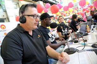 East Coast Radio's Darren Maule, Sky Tshabala, Keri Miller broadcasting live from Corporate Day
