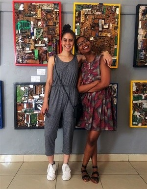 Design Indaba editor-in-chief Neo Maditla, in the role since June this year, with content producer Lindsay Samson on a recent trip to Kigali.