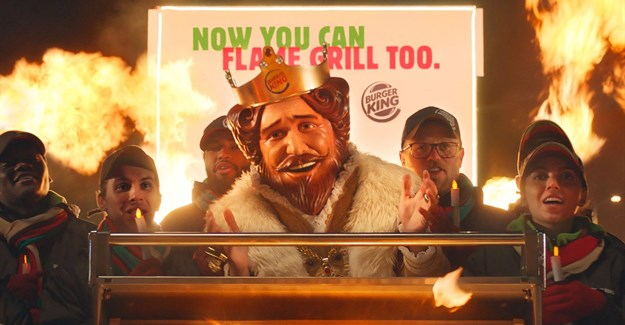 Burger King wishes McDonald's a flame-grilled festive season