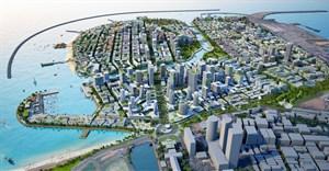 Artist impression of Colombo International Financial City