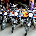 Samples of the motorcycles donated by WHO. Image: Ayodamola Owoseye. Source: