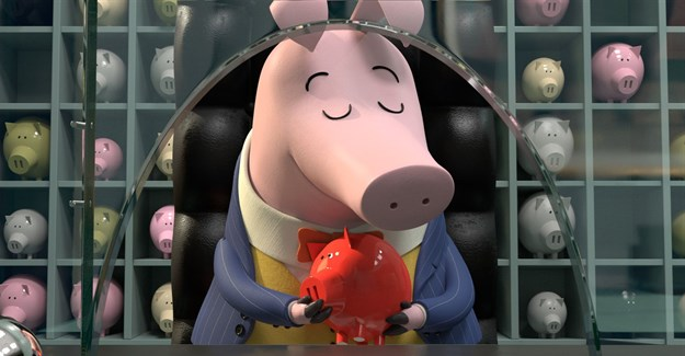 Banker Pig in Revolting Rhymes. Image supplied.