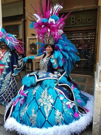 Feathers and finery at Karnival 2018, Valletta | Mark Leach
