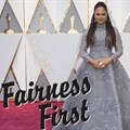 Ava DuVernay on the 89th Oscars' red carpet in 2017. Original image © Tyler Golden of ABC on . Cropped with #FairnessFirst logo overlay as per Creative Commons terms.
