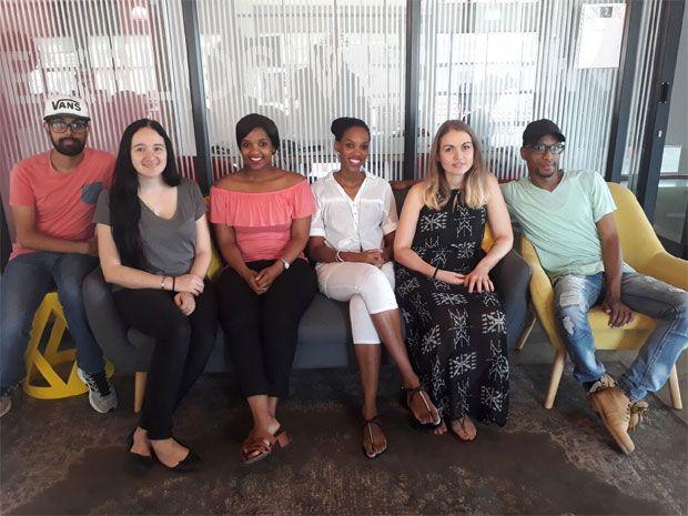 From L to R: Sukesh Moodaley, Anina Pienaar, Pelokazi Mtwisha, Zanda Twala, Danelle Classeen, Siyabonga Ndlebe