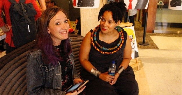 Bizcommunity M&M editor-in-chief, Leigh Andrews with Lebo Mashile © .