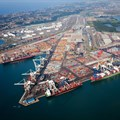 Aerial view of Durban Harbour