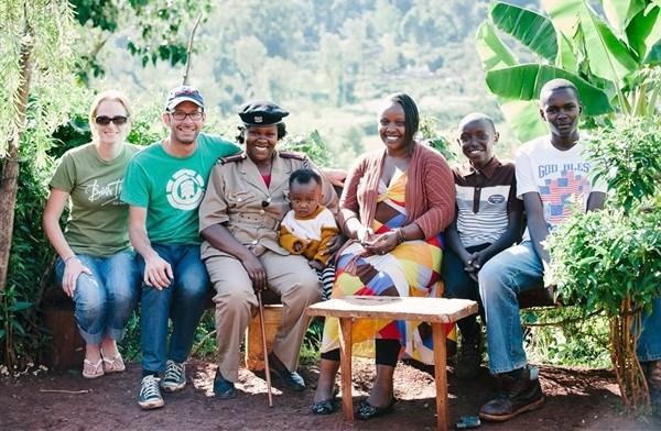 Robinson with Agnes Wairimu Kanja and family (Kenya).