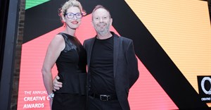 Flanked by his wife Tabitha, Alistair King is inducted into the Creative Circle Hall of Fame. Image provided.