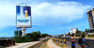 'Frozen' billboard for Castle Lite Draught.