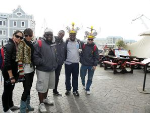 Koolka, Maggie, D-Bongz, Dammy, Coach and Justin spent some time at Cape Town¹s V&A Waterfront before starting the long trek back to Johannesburg to catch the final.