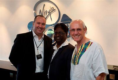 Virgin Active managing director Ross Faragher Thomas with Deputy Mayor of the eThekweni Municipality Logie Naidoo and City Manager Dr Mike Sutcliffe