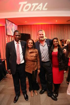 Minister of Arts and Culture Paul Mashatile, Rachelle Josiah, Steve and Vanida Lennon