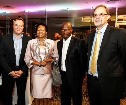 From left to right: Marcel von Aulock (CEO Tsogo Sun); MEC Pinky Phosa (DEDET); Bheki Mlambo (SEO Gambling Board); Jacques Booysen (MD Tsogo Sun)