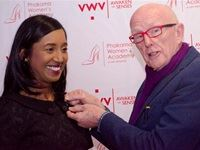 Koo Govender getting pinned by Gordon Cook at the launch