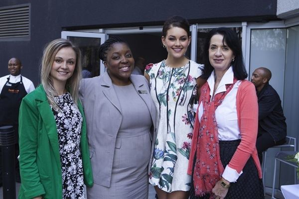 Sune Kotze from Rooi Rose; The Maslow's Public Relations manager, Keletso Kowa; Miss South Africa 2014, Rolene Strauss, and Dejane Poil, Caxton Magazines: Print Group Marketing Manager.