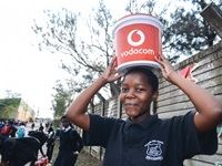 Vodacom food handover at Ohlange High School