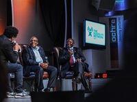 Joey Rasdien, Aaron Motsoaledi and Cyril Ramaphosa