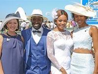 Carolyn Steyn, Jorge Mavova, Bonang Matheba & Naledi Mabuso - L'Ormarins Queen's Plate 2016