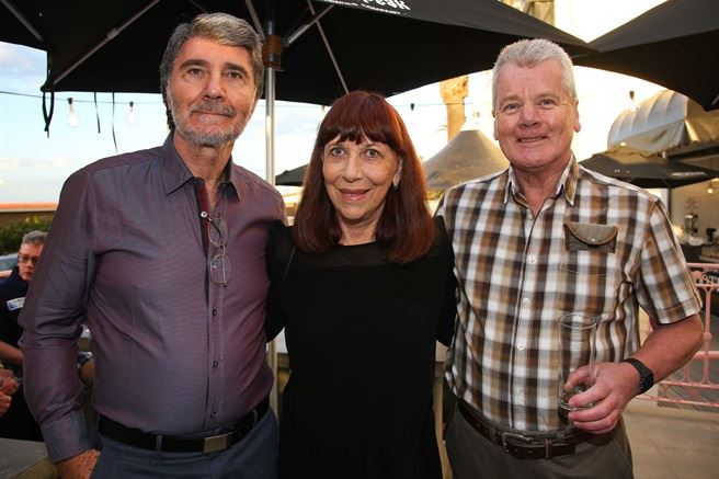 Alan & Denise Schlesinger, Hugh Patrick - Strolla launches in Sea Point