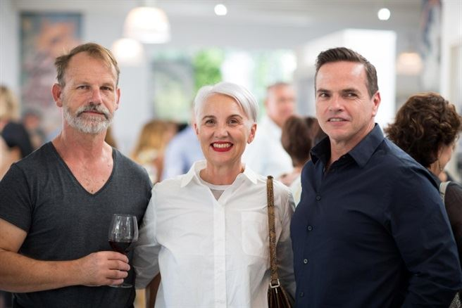 Deon Myburgh, Jackie Burger and Grant Bacon - Jan Hendrik van der Westhuizen book launch