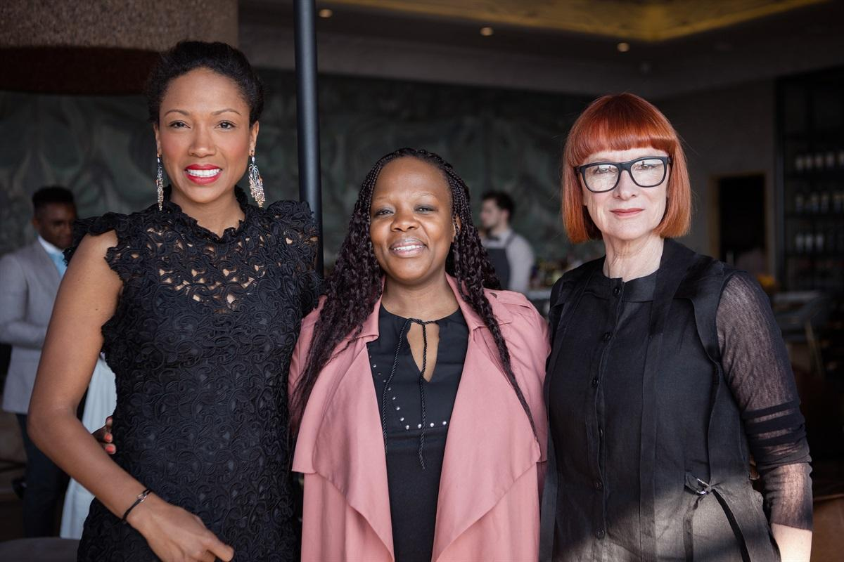 1Shelley Mvulana; GM of Womensworld at Woolworths, Thateng Shimange; SAFW founder, Lucilla Booyzen