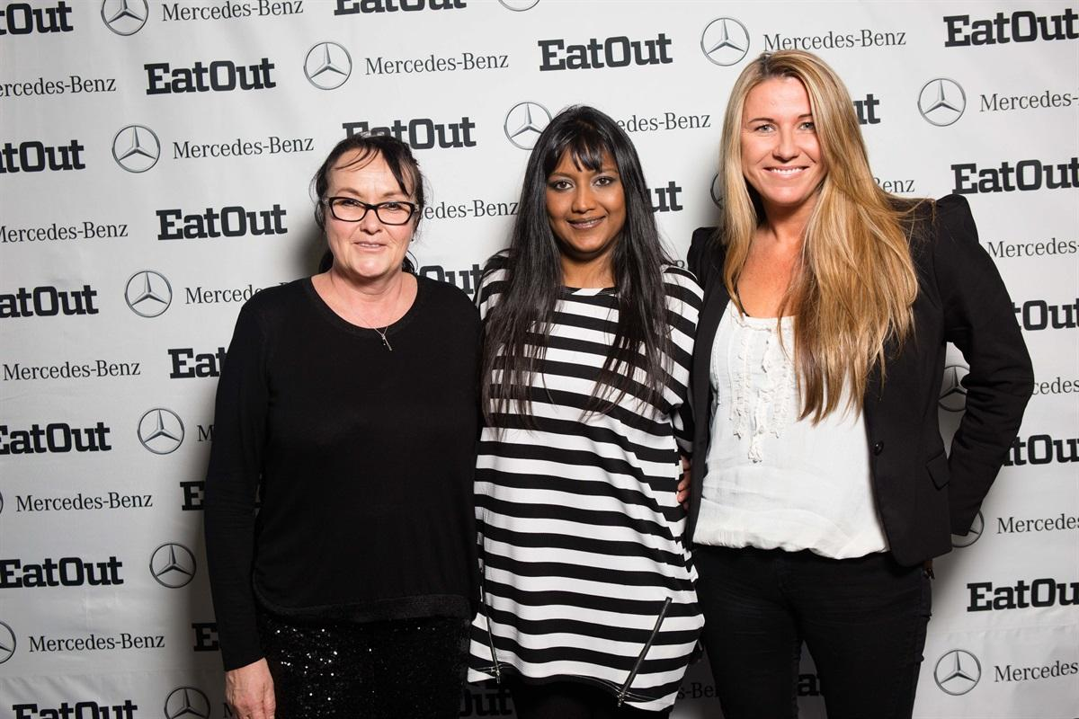 Abigail Donnelly of Eat Out_Theshni Chellan_Mercedes-Benz and Aileen Lamb of Eat Out