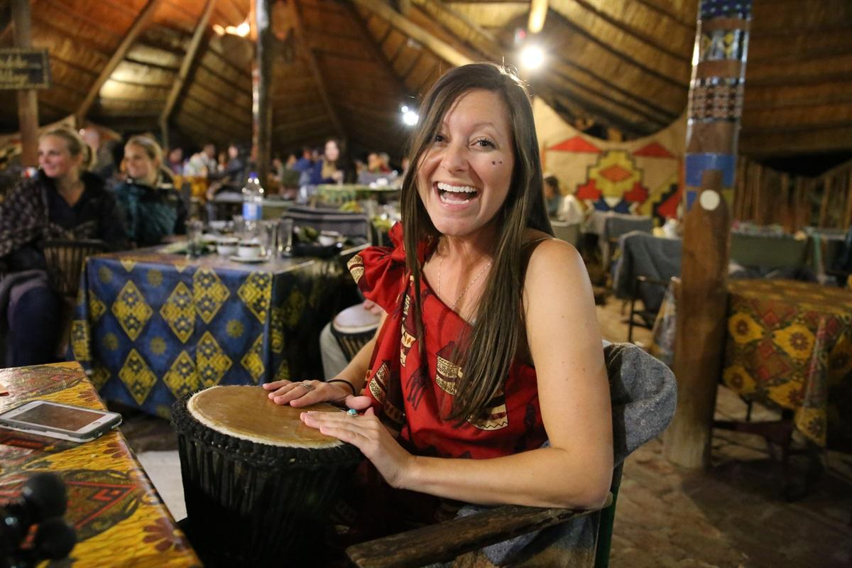 Image 1 - A guest enjoys the interactive drumming at The Boma - Dinner & Drum Show