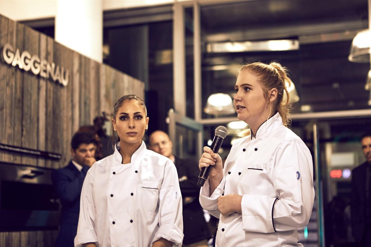 Alexia Damianou and Amy Butler from the Bosch expereince stand introducing their delectible pastries to the guests