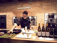 Chef Marthinus Ferreira (Brand Ambassador for Gaggenau) preparing exquisite canapés