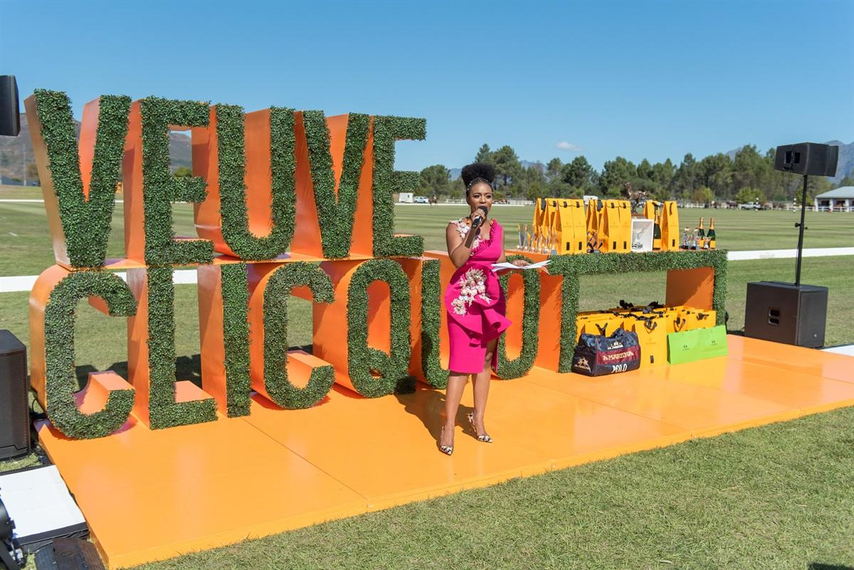 1Nomzamo Mbatha hosting the Veuve Clicquot Masters Polo 2018